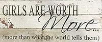 簡素な雑貨屋 Girls Are Worth More. アメリカン 雑貨 ナンバープレート ヴィンテージ風 ライセンスプレート メタルプレート ブリキ 看板 アンティーク レトロ