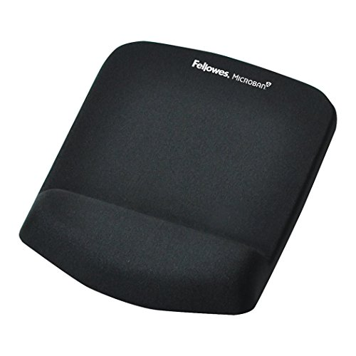 Fellowes PlushTouch Mouse Pad/Wrist Rest with FoamFusion Technology, Black (9252001)