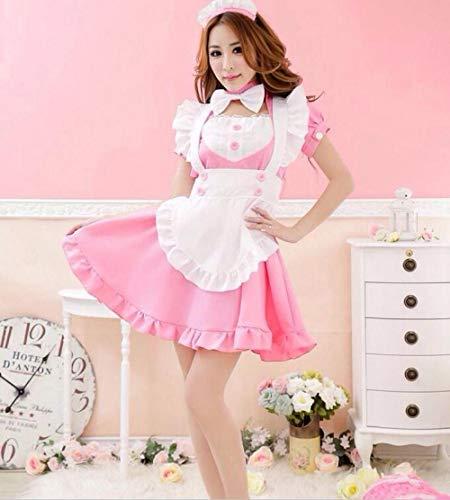 HNJing Erotische Reizwäsche Nette Maid Kostüm Für Frauen Kaffee Maid Anzug Maid Cosplay Sissy Maid Sexy Uniform Cosplay Für Frauen Festival Kleidung-D_XXXL