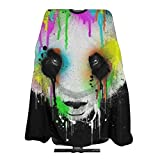 Professional Salon Hair Cut Cape,Apron with Adjustable Snap Closure,Hairdressers and Barbers Graffiti Panda,Easy Clean,Lightweight