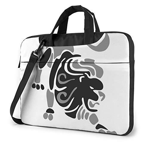 Laptop Case, Zodiac Leo Lion Print Laptop Shoulder Bags Multi-Functional Notebook Sleeve,13-14-15.6 Inch