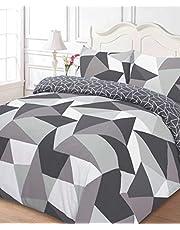 Dreamscene Former påslakan med kudde fall sängkläder set, polyester, svart, dubbel