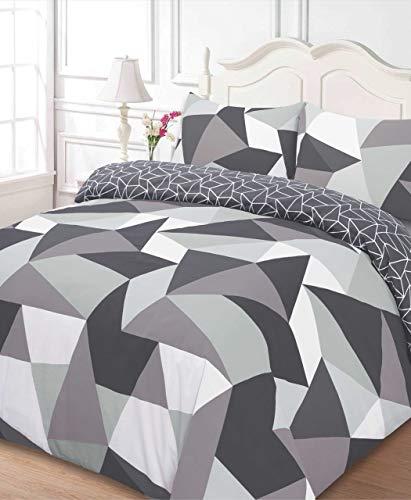 Dreamscene Formen Bettbezug mit Kissen Fall Bettwäsche-Set, Polyester-, schwarz, Double