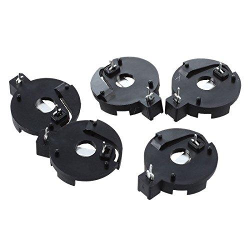 Gfhrisyty CR2016 2025 2032 Moneda botón batería titular zócalo negro 5 piezas