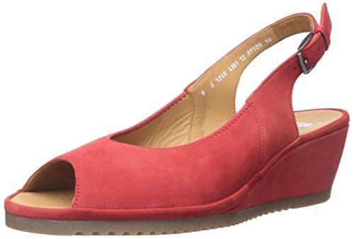 ARA womens Colleen Wedge Sandal, Red Nubuck, 7.5 US