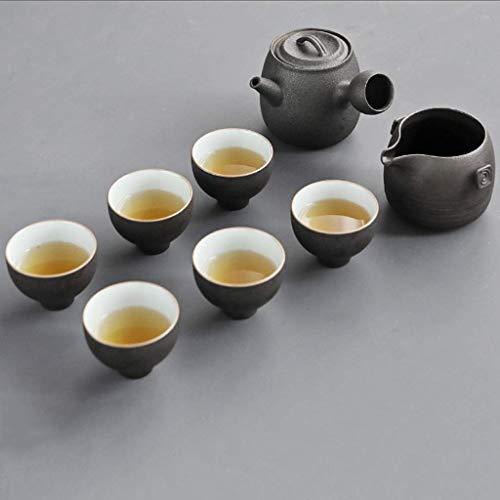 Sgxiyue Crockery Ceramic Teapot Kettles Tea Cups Porcelain Kung Fu Tea Set Drinkware for Tea Ceremony