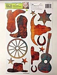 Main Street Wall Creations Cowboy Jumbo Removable Stickers/Decals - Western Motif Medley