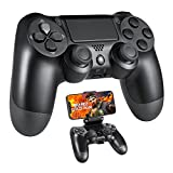 Wireless Gaming Controller for PS4, Built-in 1000mAh Rechargeable Battery/Speaker/Dual Vibration/6-axis Sensor/Touchpad Joystick Remote Bluetooth PC Gamepad for Playstation 4/Slim/Pro Console, Black