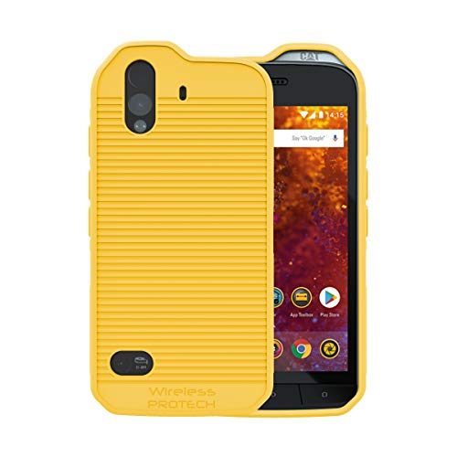 CAT S61 Case Wireless ProTECH Flex Skin TPU Material Case for Caterpillar CAT S61 Phone (Yellow)