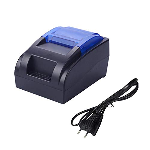 Impresora Térmica Tickets Multifuncion Portatil USB para Recibos Y Billetes, 58 MM, Impresión Alta Velocidad 90 Mm/S, Compatible ESC/POS Establecidos