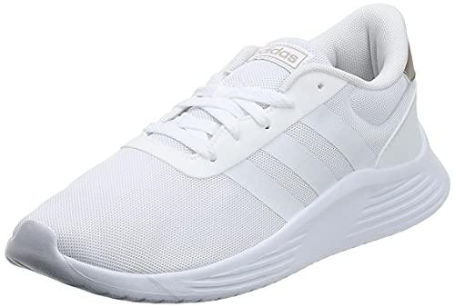 adidas Lite Racer 2.0, Sneaker Mujer, Grey/Footwear White/Champagne Metallic, 36 2/3 EU