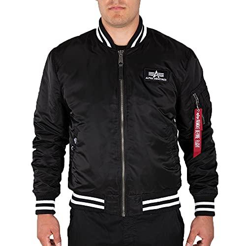 ALPHA INDUSTRIES Herren College Jacket FN black (L)