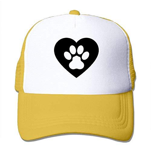 Preisvergleich Produktbild Voxpkrs Hundetatzen-Herz Clipart Unisex-justierbare Hüte Trucker Cap / Baseballkappe Netzrücken U8I0013033
