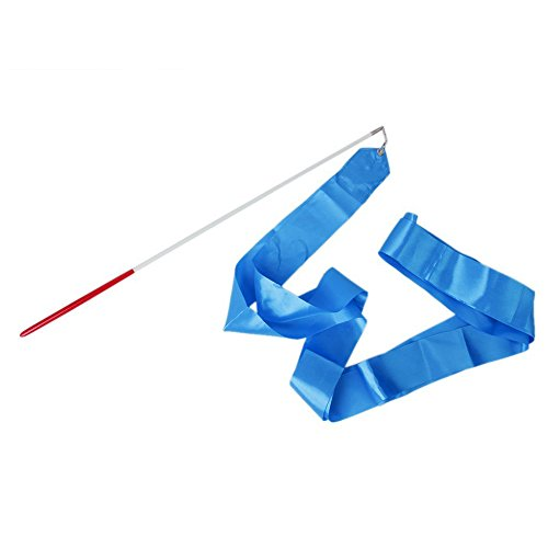 4M Tanzband Gym Rhythmische Kunst Gymnastik Ballett Streamer Twirling Rod4m Gymnastik Streamer blau