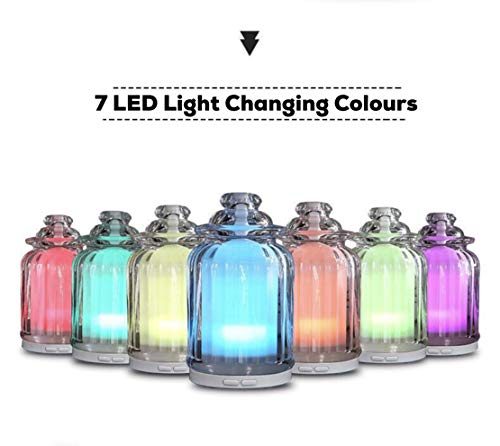 7 Color LED Light Essential Oil Diffuser, Aromatherapy...