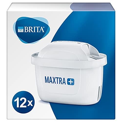 BRITA MAXTRA+ – Pack 12 filtros para el agua,Cartuchos filtrantes compatibles con jarras BRITA que reducen la cal y el cloro
