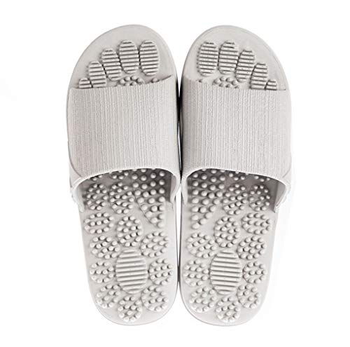 Fußmassagegerät Massage Schuhe Massagepunkte Fußreflexzonen Akkupressur Slipper, Yoga Fitness Fußpflege Massage Akupressur Schuh,Grau,42&43