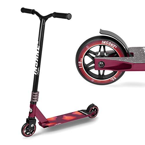 fun pro Insane2, Stunt Roller hasta 100 kg, ABEC9, HIC, ruedas de 110 mm con núcleo de aluminio, distribuidor de Hamburgo (Stunt Fun Trick Scooter) (Pop Cat)