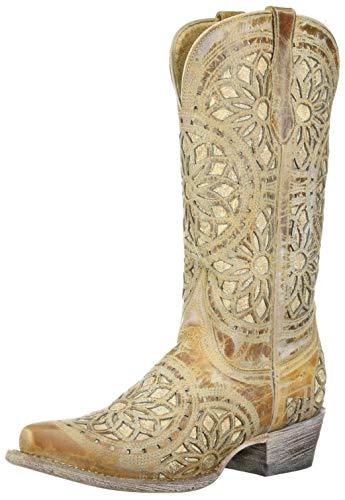 Ferrini Women's Mandala Western Boot, brown, 8.5