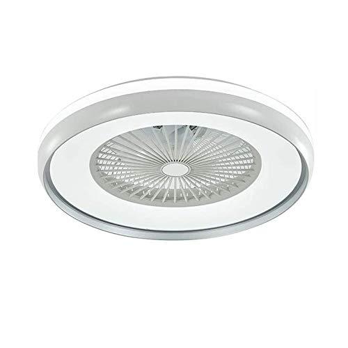 Ouuily Ventilador de Techo con iluminación y Control Remoto 80W Silencioso Luz de Techo LED Moderno y Creativo Lámpara de Techo Regulable Candelabro Fan