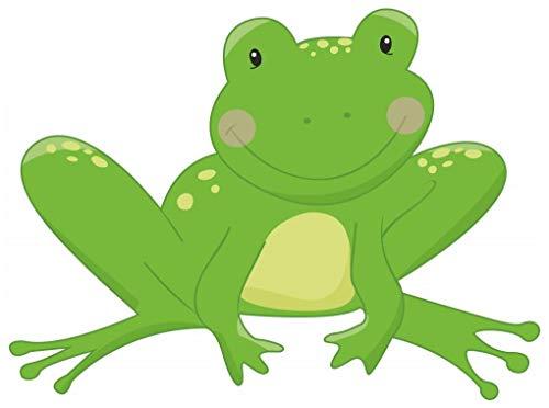 Samunshi® Frosch Wandtattoo Wandaufkleber Kinderzimmer in 5 Größen (30x22cm Mehrfarbig)