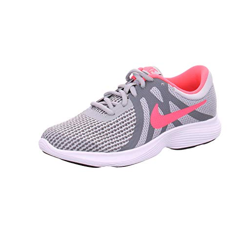 Nike Girl's Revolution 4 (GS) Running Shoe, Wolf Grey/Racer Pink-Cool Grey-White, 5Y Youth US Big Kid