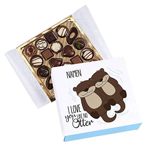Herz & Heim® Lindt Mini-Pralinés - I love you like no otter - mit Ihren Wunschnamen bedruckt