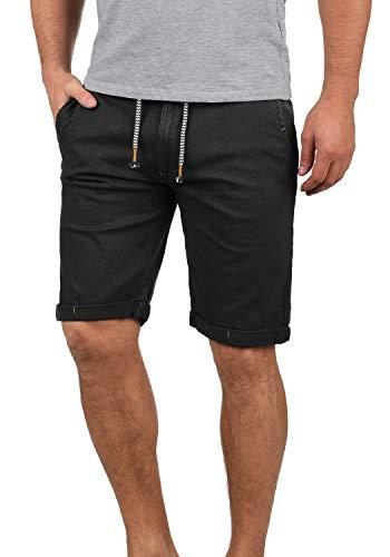 Indicode Mika Chino Pantalón Corto Bermuda Pantalones De Tela para Hombre, tamaño:XXL, Color:Jet Black (978)