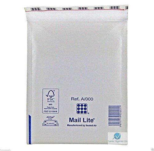 Mail-Lite Enveloppes rembourrées Taille A/000110x 160mm –Blanc (lot de 100)