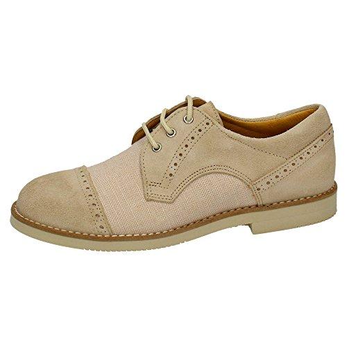 YOWAS Zapato Comunión o de Vestir (34, Beige)