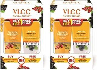 VLCC Vlcc Turmeric & Berberis Face Wash + Anti Tan Skin Lightening Face Wash (Buy 1 Get 1) (Pack of 2))