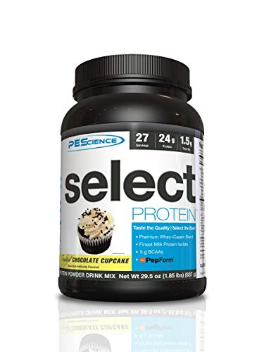 PEScience Select Low Carb Protein Powder, Chocolate Cupcake, 27 Serving, Keto Friendly and Gluten Free