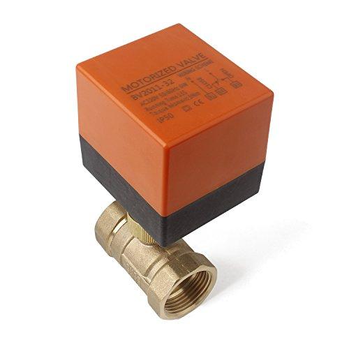 2 Wege Zonenventil Kugelventil Absperrhahn DN25 G1 Zoll AC 230V Zweiwegeventil Umschaltventil Absperr-Umschalt-Kugelventil Elektro Ventil 0~6bar [Energieklasse A]