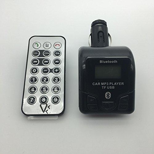 Transmetteur Bluetooth FM Kit mains libres pour connecter te?le?phone Smartphone a? l'Autoradio de la voiture, lire carte MicroSD et Cle? USB de Musique + Prise USB Chargeur + Prise Jack 3,5 pour connection MP3 ou autres appareils sans BT