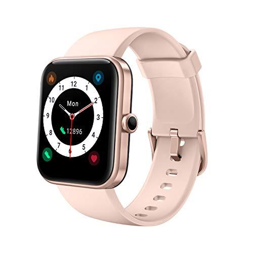 """YONMIG Smartwatch, 1.69"""" Táctil Completa Reloj Inteligente Impermeable 5ATM para Hombre Mujer con Alexa Integrad, Pulsera Actividad Inteligente con Monitor de Sueño, Oxígeno de Sangre para, Pulsómetro"""
