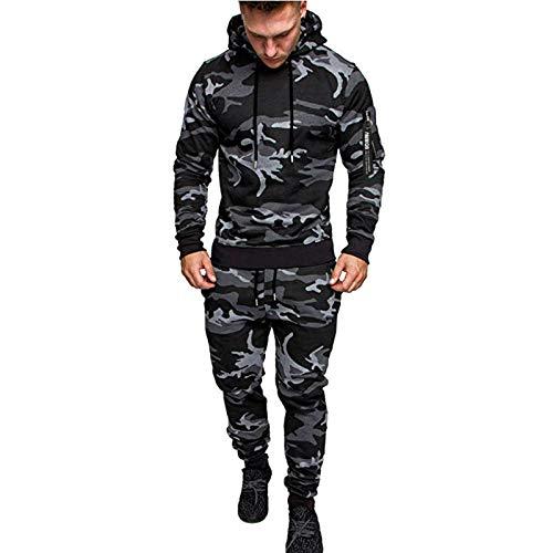 AABBQ Herren Jogging Anzug Trainingsanzug Sportanzug, Hoodie-Sporthose | Jogging-Anzug | Trainings-Anzug | Jogging-Hose (Dunkelgrau, M)