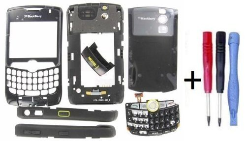 Blackberry Curve 8350i Nextel OEM Full Housing With Battery Door Black + Parts4BB Tool Set