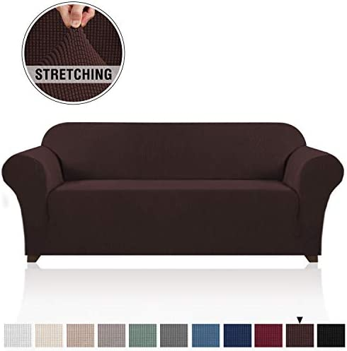 Best PrinceDeco Stretch SofaCover CouchCoversfor3CushionCouch SofaSlipcovers FurnitureCov