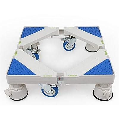 Adjustable Trolley Washing Machine Universal Appliance Roller Trolley with Brake Adjustable Base Length Washing Machine Floor Trays