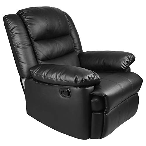 Innotic Recliner Armchair Reclining Chair Sofa PU Leather Adjustable Pushback chairs for Lounge Gaming Chair Reclining Home Office Living Room Chairs for Reading Resting Sleeping Home Cinema Theater