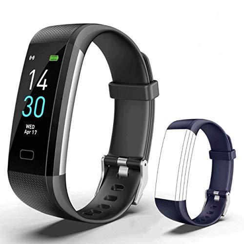 Showyoo Montre Connectée Intelligente, Pression Artérielle Cardio Fréquence Smartwatch Bracelet Connecté Ecran...