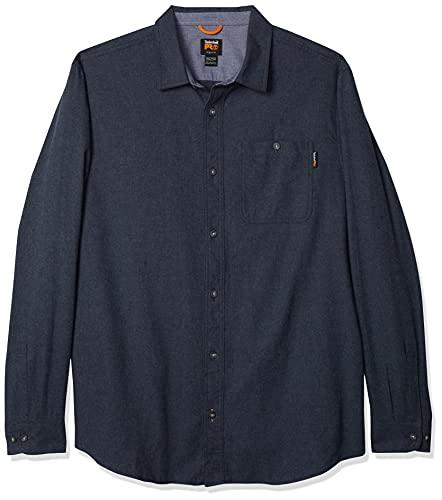 Timberland PRO Herren Woodfort Mid-Weight Flannel Shirt Work Utility Hemd, Marineblau meliert, XX-Large