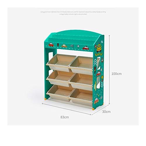 NINGWXQ Bücherregal Kinder Regal for Spielzeug Kinderzimmermöbel Spielzimmer Kindertagesstätte Aufbewahrungs-Regal Fürs Kinderzimmer, 2 Spezifikationen (Color : Green, Size : 83X30X100cm)