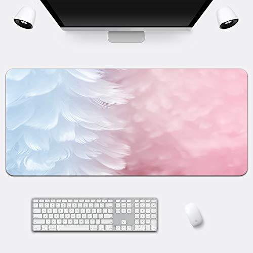Z IMEI Verlängert Pu Laptop-Tastatur-Maus-pad Spiele Mauspad Desk-pad-Protector Mit Komfortablen Schreibfläche Wasserdicht Ultra Dünn 2 Mm-m 90x42cm/35x17inch