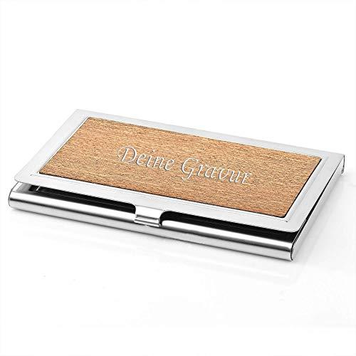 Visitenkartenetui mit Gravur aus Edelstahl, Hochwertiger Kartenhalter für Visitenkarten | Profiware zum Business
