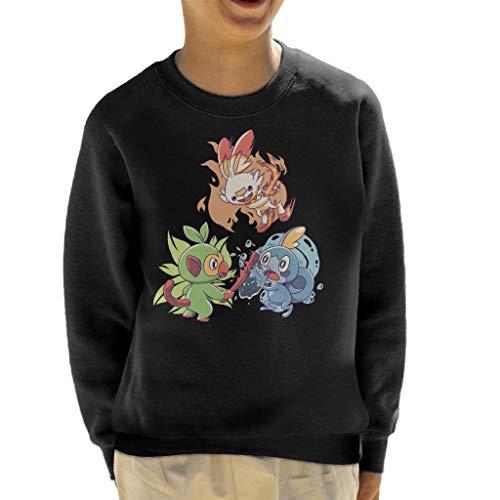 Cloud City 7 Galar Starters Grookey Scorbunny Sobble Kid's Sweatshirt
