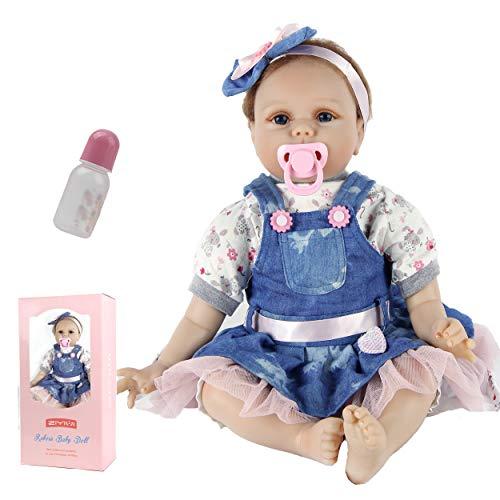 ZIYIUI Muñecas Reborn Bebé Niña 22 Pulgadas 55cm Silicone Morbido Vinile Bebes Reborn Baratos Bebé Reborn Barato Juguetes Bebes Reborn Regali di Natale Reborn Dolls