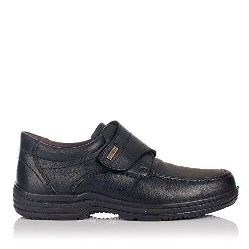 LUISETTI 20412 Zapato Velcro Hombre Negro 42
