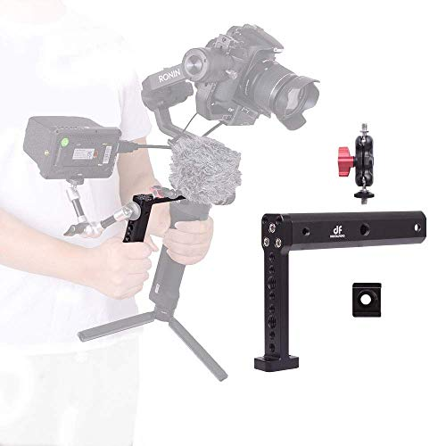 DF DIGITALFOTO Vision Hold Plate Grip Extension Rods Bar Monitor Mount Accessories Compatible with Ronin S/SC,RSC2/RS2,DJI RS2, Gimbal Setup Mounting Microphone