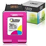 CKMY Remanufacturado para HP 301XL 301 Cartuchos de Tinta Reemplazo para HP DeskJet 1000 1010 1510 1512 2050 2540 3000 Envy 4500 4501 4502 Officejet 2620 2621 4631(1 Tricolor)